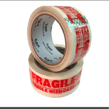 12 Rolls Fragile Printed Tape 48mm x 66m (40 Micron)