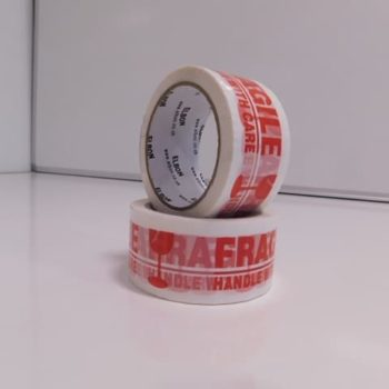 Warning Fragile Packing Tape - 48mm x 66 metres (40 Micron)