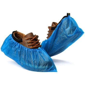 400 Pairs Disposable Shoe Covers, Blue Anti Grip Overshoes