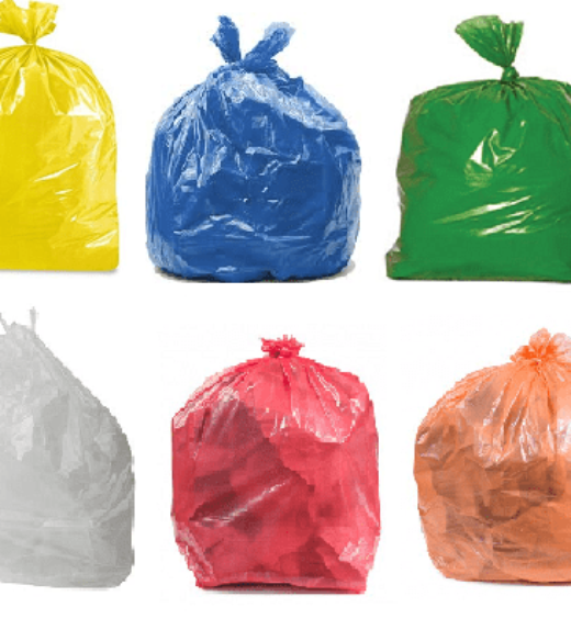 Coloured Waste bags