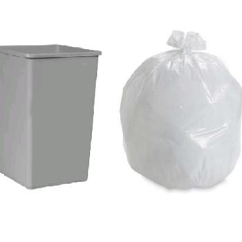 Square Bin Bags Economy Clear Bin Liners