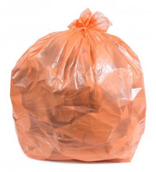 Orange waste bags