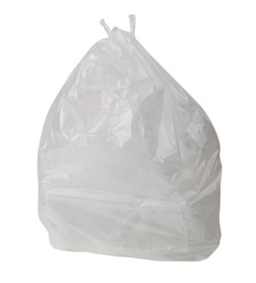 White waste bags