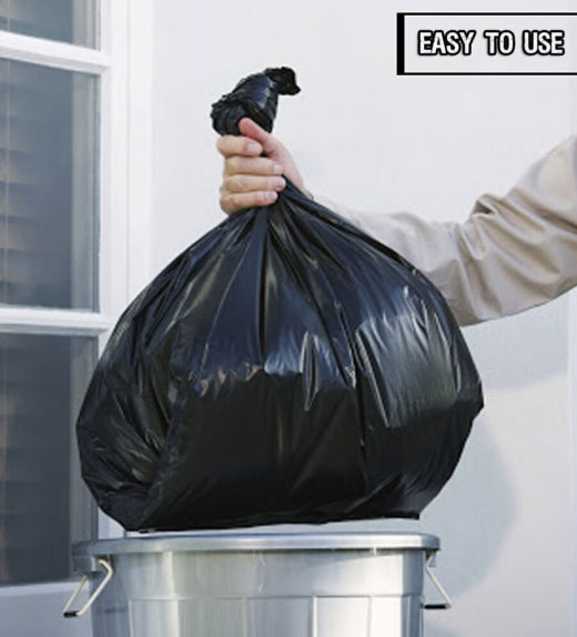 Black refuse sacks use