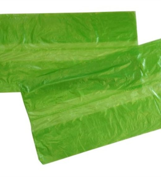 Green soluble strip laundry bags