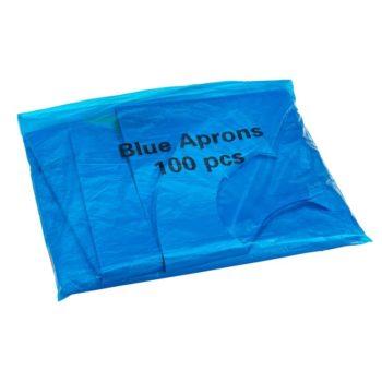 Disposable Aprons, Standard Blue Plastic Apron