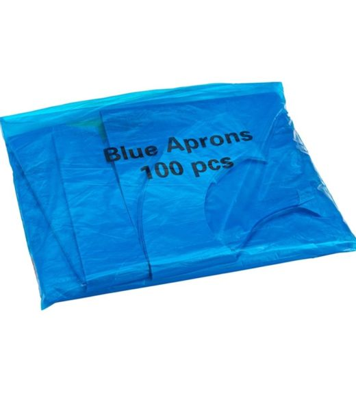 Disposable Blue Aprons Flat Pack
