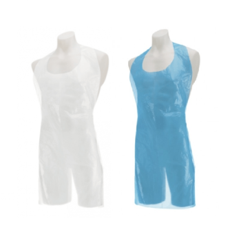 Deluxe Disposable Plastic Aprons 16mu Flat/Roll Pack