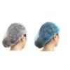 Blue white hair net mob cap