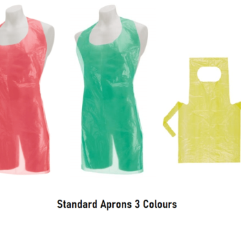 Disposable Aprons, Standard Plastic Yellow Green Red Apron 10mu