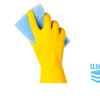 Yellow houesehold gloves cleaning